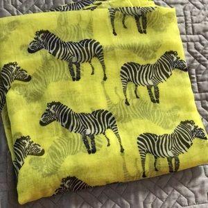 Yellow zebra scarf